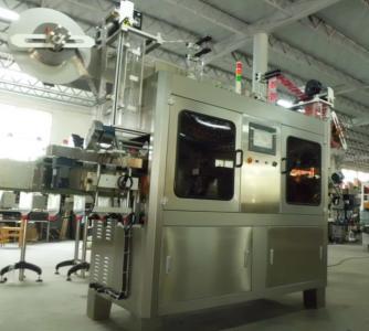 矿泉水瓶套标机 矿泉水瓶口套膜套标机 高速全自动饮料热收缩套标机